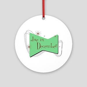 Retro Due In December Ornament (Round)