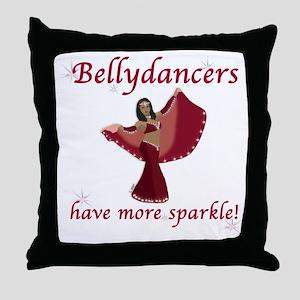 Red Bellydancer Throw Pillow