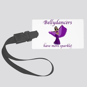 BD purple sparkle 8in Luggage Tag
