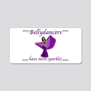 BD purple sparkle 8in Aluminum License Plate