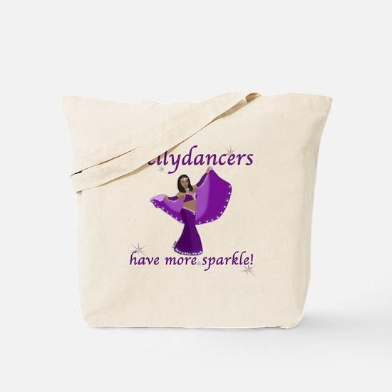 Purple Bellydancer Sparkle Tote Bag