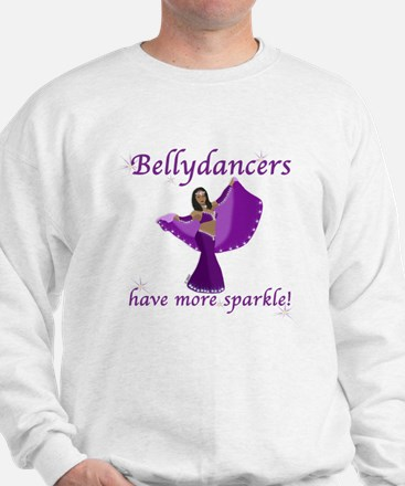 Purple Bellydancer Sparkle Sweatshirt