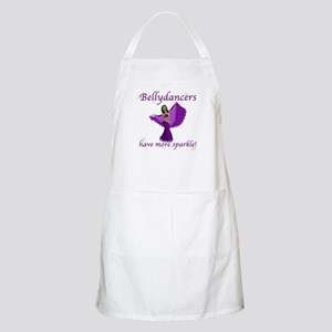 Purple Bellydancer Sparkle BBQ Apron