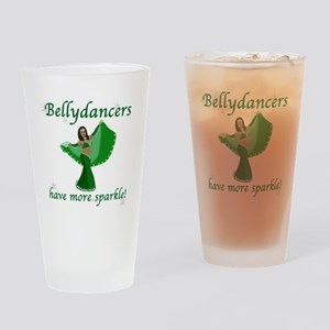 BD green sparkle 8in Drinking Glass