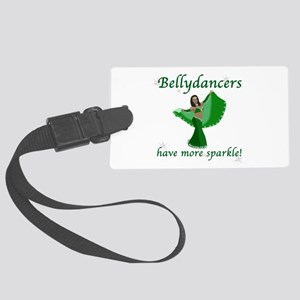 BD green sparkle 8in Luggage Tag