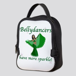 BD green sparkle 8in Neoprene Lunch Bag