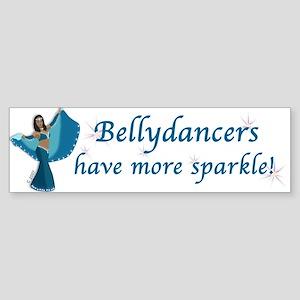 Turquoise Bellydancer Bumper Sticker