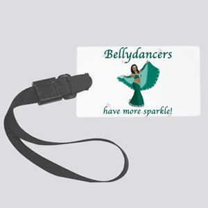 BD teal sparkle 8in Luggage Tag