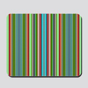 Green Ethnic Chevron Tribal Pattern Mousepad