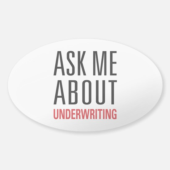 Underwriting Sticker (Oval)