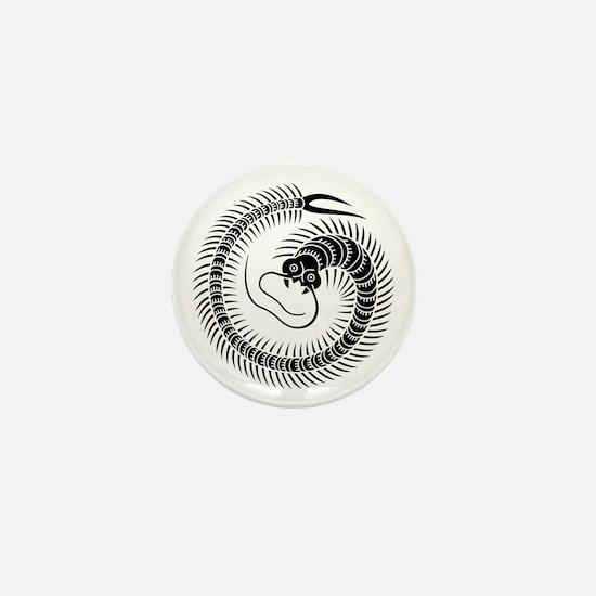 Centipede circle Mini Button