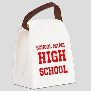 High School Canvas Lunch Bag