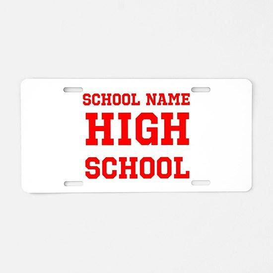 High School Aluminum License Plate