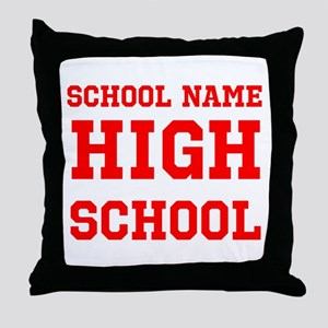 High School Throw Pillow