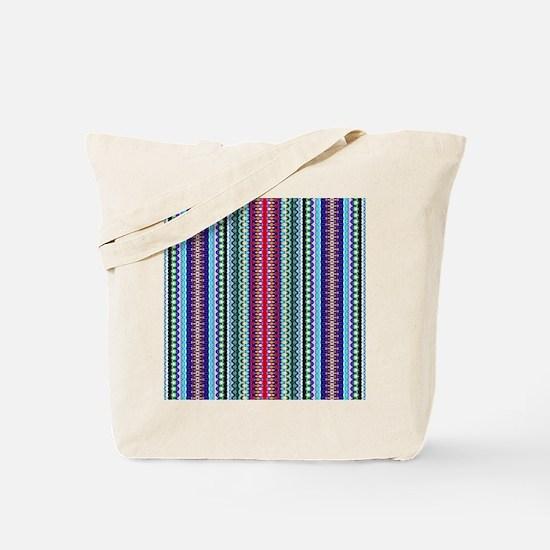Purple Red Mint Tribal Pattern Tote Bag