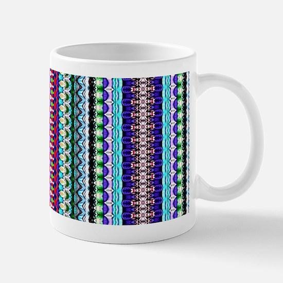Purple Red Mint Tribal Pattern Mug