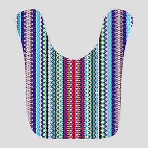 Purple Red Mint Tribal Pattern Bib