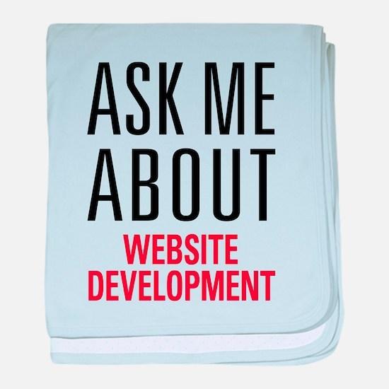 Website Development baby blanket