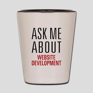 Website Development Shot Glass