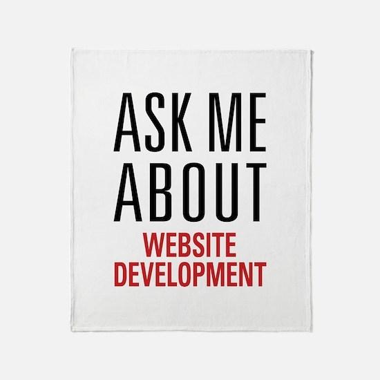 Website Development Throw Blanket