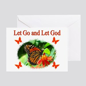 LET GO LET GOD Greeting Card