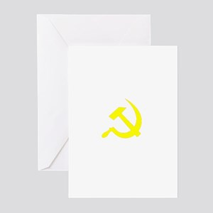 Hammer and Sickle Yellow (Dar Greeting Cards (Pack