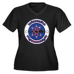 USS HADDOCK Women's Plus Size V-Neck Dark T-Shirt
