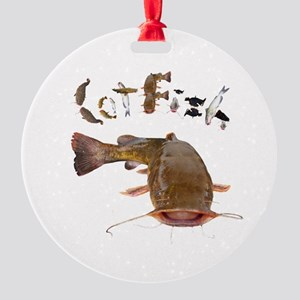 Catfish Round Ornament
