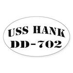 USS HANK Sticker (Oval)