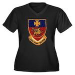 USS HANK Women's Plus Size V-Neck Dark T-Shirt