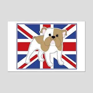 English Bulldog Flag Mini Poster Print