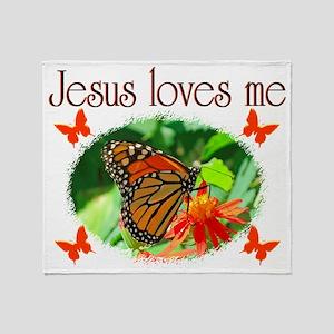 JESUS LOVES ME Throw Blanket