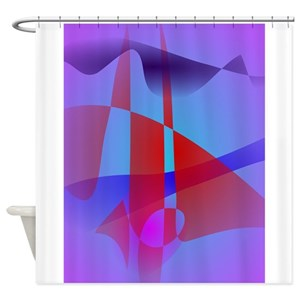 Snoopy Red Baron Light Design Shower Curtains
