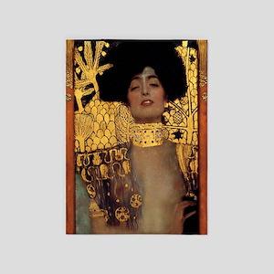 Gustav Klimt Judith And The Head Of 5'x7'area Rug