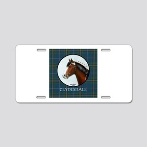 Clydesdale Aluminum License Plate