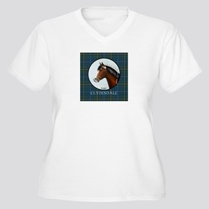 Clydesdale Women's Plus Size V-Neck T-Shirt