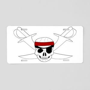 Skull And Swords Aluminum License Plate