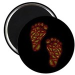 """Tribal Toes 2.25"""" Magnet (10 pack)"""