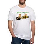 Models & Bottles White Fitted T-Shirt