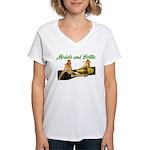 Models & Bottles Women's V-Neck T-Shirt