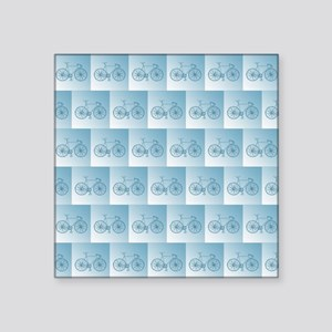 """Blue bycicles pattern Square Sticker 3"""" x 3"""""""