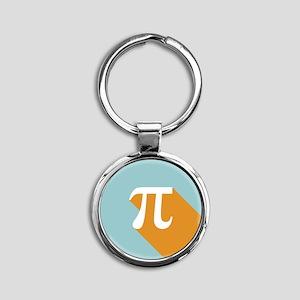 Vibrant Pi Round Keychain