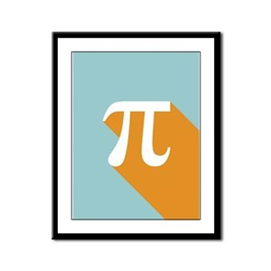 Vibrant Pi Framed Panel Print