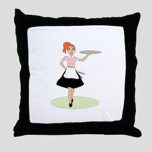 Waitress Throw Pillow