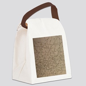 Bus network map Canvas Lunch Bag