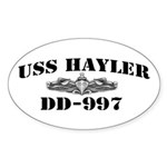 USS HAYLER Sticker (Oval)