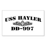 USS HAYLER Sticker (Rectangle)