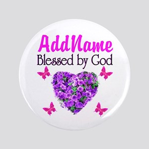 "BLESSED BY GOD 3.5"" Button"