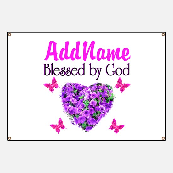 BLESSED BY GOD Banner