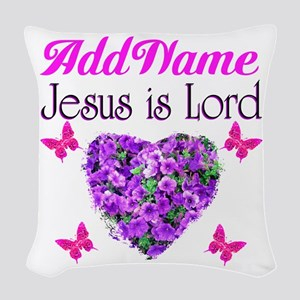 JESUS IS LORD Woven Throw Pillow